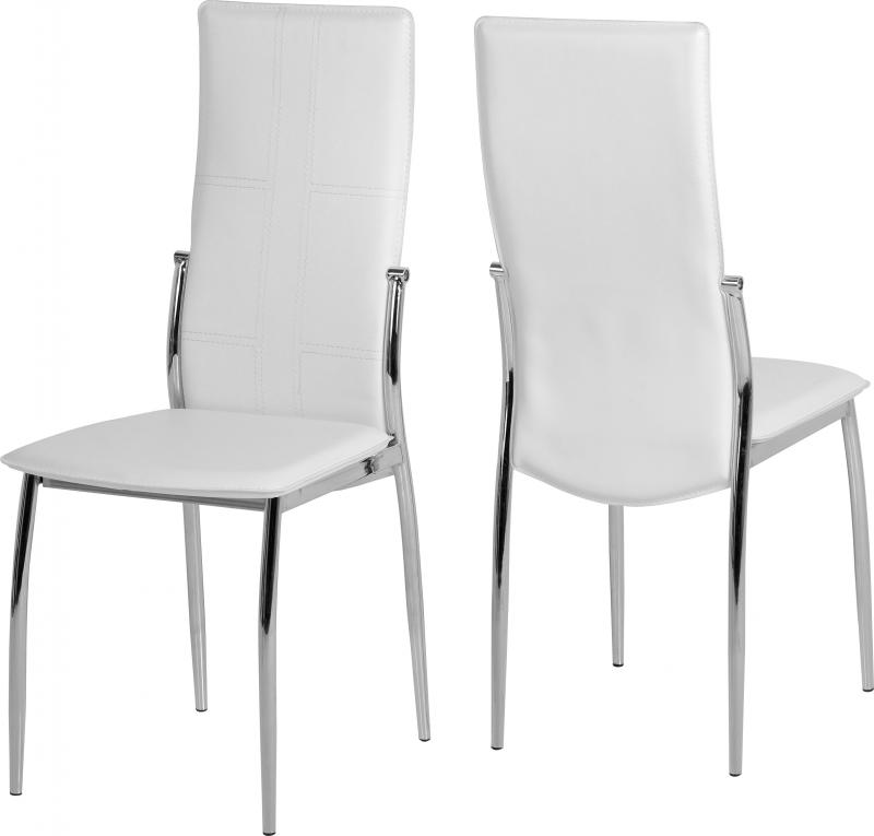 New Modern Berkley Dining Set 4 White Chairs Only 395 Global Furniture