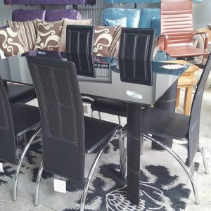 New Bradford dining set + 6 chairs 595€