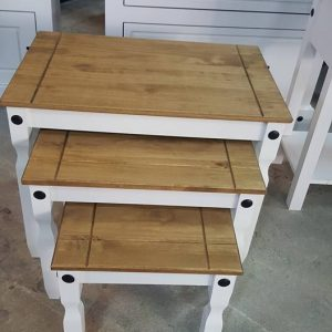 New corona white nest of tables 149.99