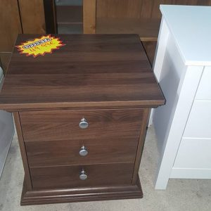 NEW 3 drawer walnut bedside 49.99€