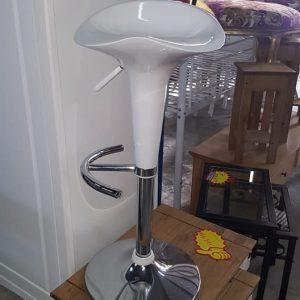 NEW high gloss white bar stool 59.99