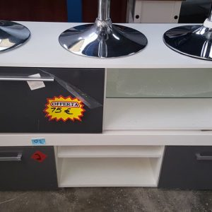 NEW modern grey white tv units from 75€