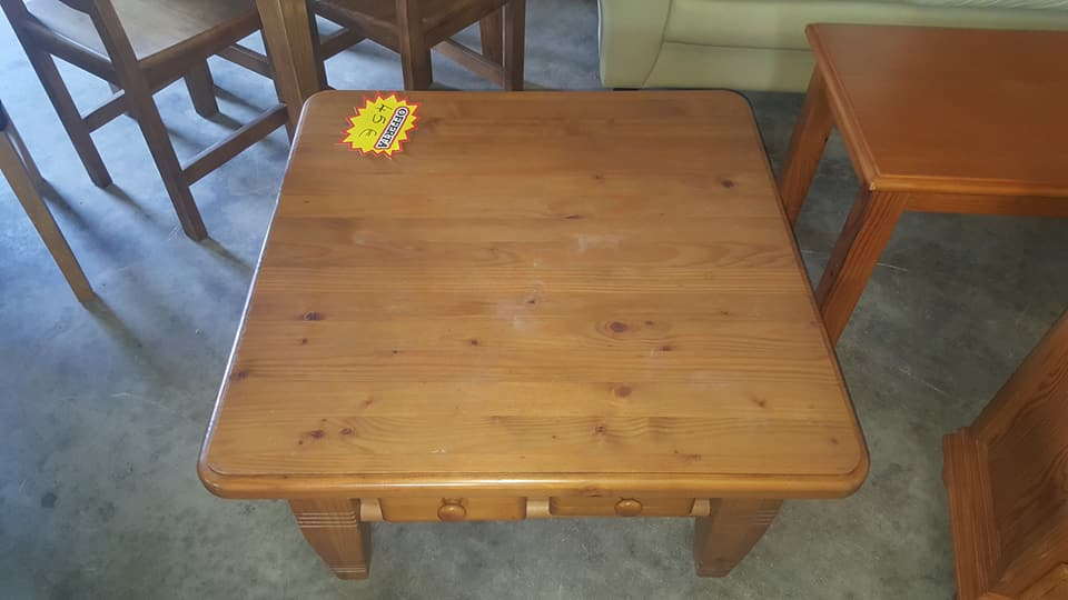 Used pine coffee table only 45 global discount for Affordable furniture on 45