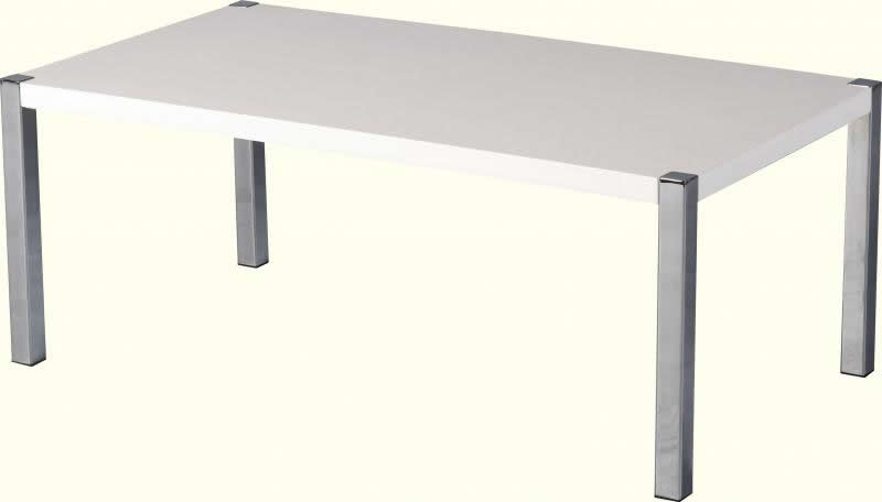 New High Gloss White Chrome Coffee Table Only 135