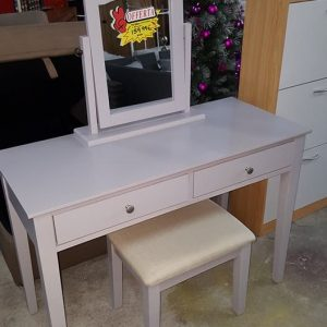 NEW Grey dressing table mirror and stool 159.99