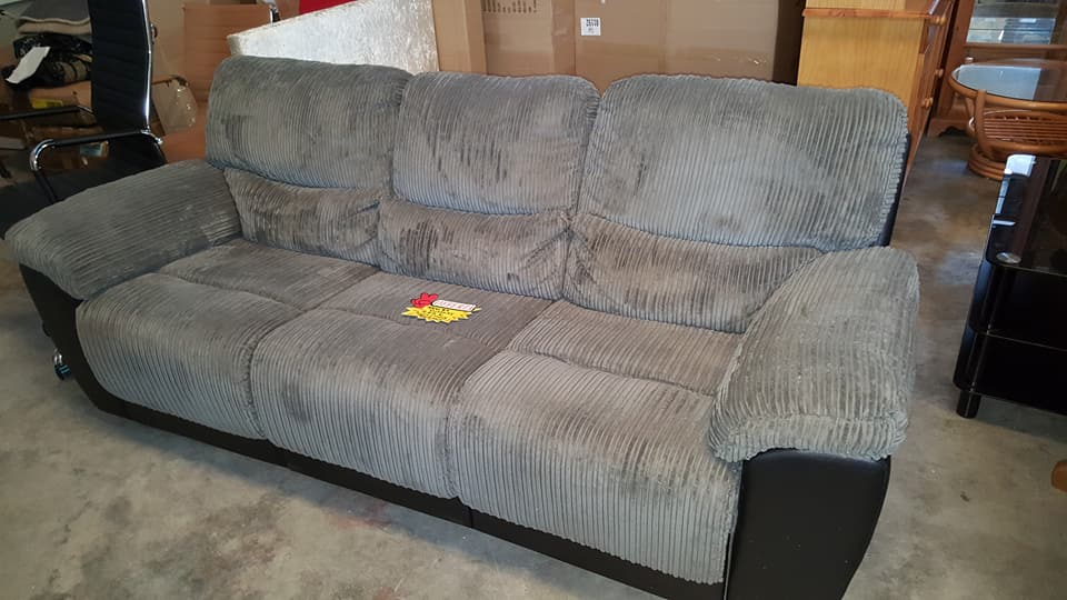 Ex Display 3 1 Grey Sofa Set Only 445 Global Discount Furniture Outlet