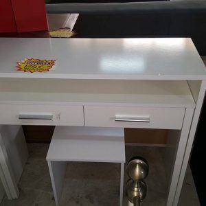 NEW 2 DRW DRESSING TABLE PLUS STOOL 120