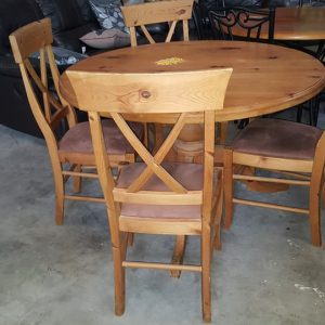 USED TABLE + 4 CHAIRS 124.99