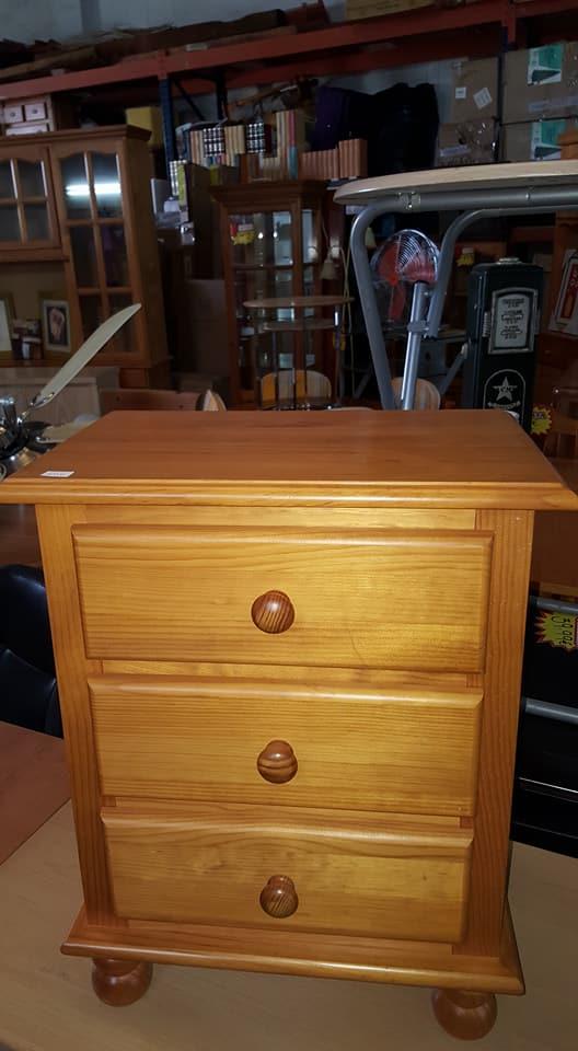 3 Drw Pine Bedside 35