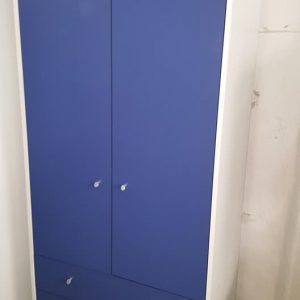 new blue 2 door 3 drw robe 169.99