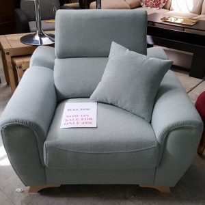 New pastel green fabric armchair 495