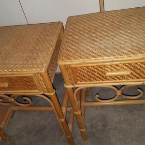 2X wicker bedside cabinets 30 pair