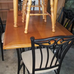 Large beech table +4 chairs 124.99