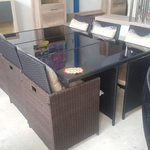 new 6 SEATER CUBE DINING SET 695