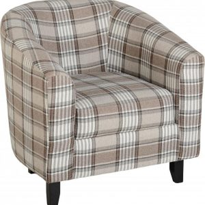 MED_HAMMOND_TUB_CHAIR_GREYBROWN_TARTAN_FABRIC 295€