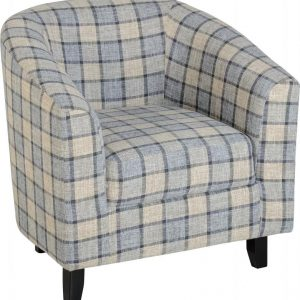 MED_HAMMOND_TUB_CHAIR_GREY_CHECK_FABRIC 295€