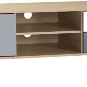 BERGEN-1-DOOR-2-DRAWER-TV-UNIT-OAK-EFFECT-WHITEGREY 169.99