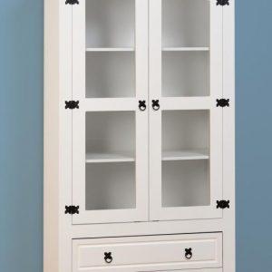 MED_CORONA_2_DOOR_2_DRAWER_GLASS_DISPLAY_UNIT_WHITE 449.99