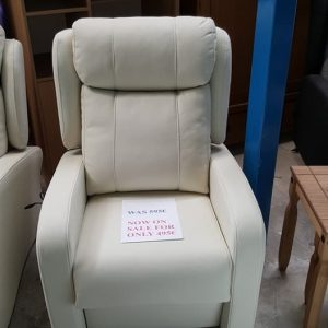 new leather micro powerlift armchair only 495
