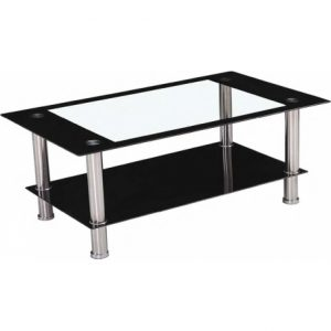 NEW ELBA GLASS COFFEE TABLE ONLY 59.99